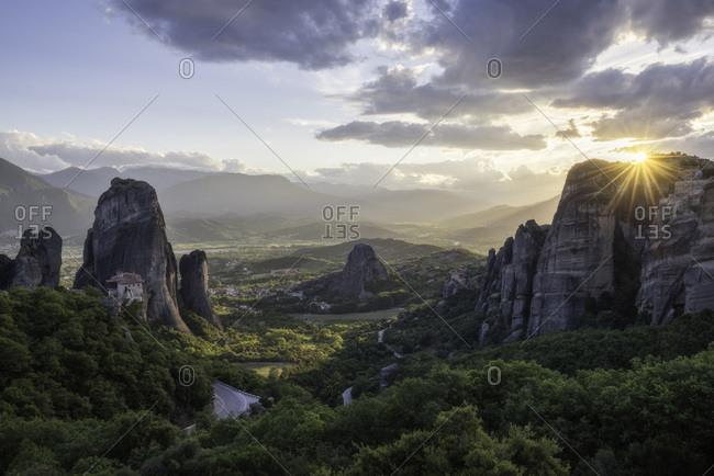 Greece, Thessalia, Meteora, Roussanou monastery, Kalambaka, Monastery of Rousanou