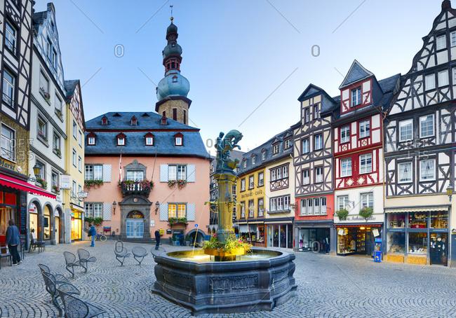 October 5, 2016: Germany, Deutschland, Rhineland-Palatinate, Rheinland-Pfalz, Cochem, Saxon Wine Route, S_chsische Weinstrasse, City center of Cochem