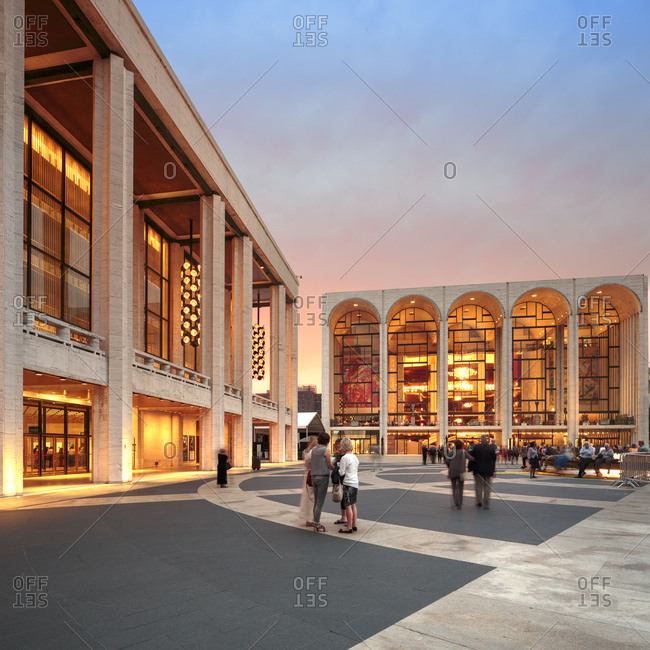 September 30, 2014: United States, USA, New York City, Manhattan, Upper West Side, Lincoln Center for the Performing Arts, Lincoln center, spaces and architecture