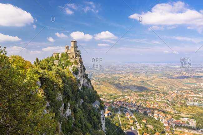 Republic of San Marino, San Marino, San Marino, The First  Torre (tower) called Rocca Guaita or Rocca Maggiore on the Monte (mount) Titano