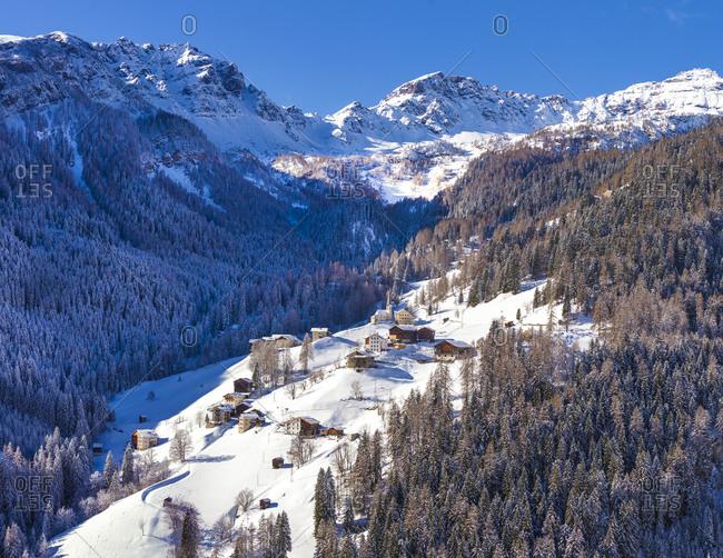 Italy, Veneto, Belluno district, Alto Agordino, Pieve di Livinallongo, Alps, Dolomites, Ornella locality and Monte Mesola