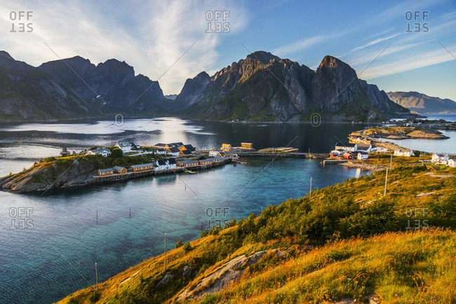 Norway, Nordland, Lofoten Islands, Moskenesoy, Scandinavia, Reine fishing village
