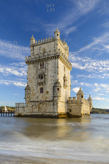Portugal, Distrito de Lisboa, Lisbon, Belem, Belem Tower, Tagus, Tejo,