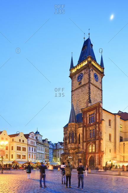 March 3, 2017: Czech Republic, Central Bohemia Region, Prague, Prague Old Town Square, Astronomical Clock, Bohemia, Checy,