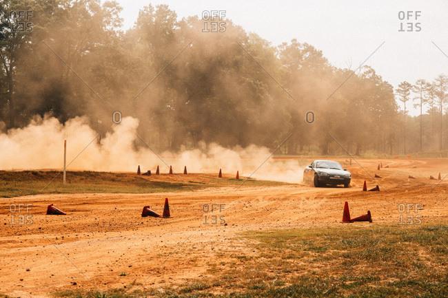Union Point, Georgia, USA - July 26, 2015: Mazda Miata at motorsport event at off-road resort