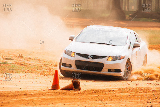 Union Point, Georgia, USA - July 26, 2015: Honda Civic at motorsport event at off-road resort