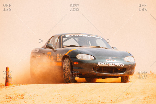 Union Point, Georgia, USA - July 26, 2015: Mazda Miata at off-road motorsport event