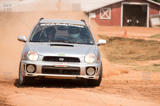 Union Point, Georgia, USA - July 26, 2015: Subaru WRX at off-road motorsport event