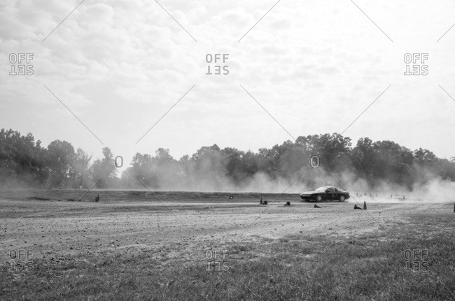 Union Point, Georgia, USA - July 25, 2015: Nissan 240SX racing at motorsport event at off-road resort