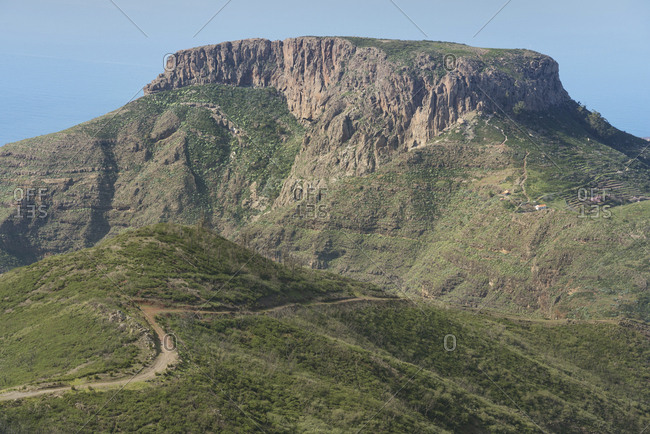 Spain- Canary islands- La Gomera- table mountain La Fortaleza
