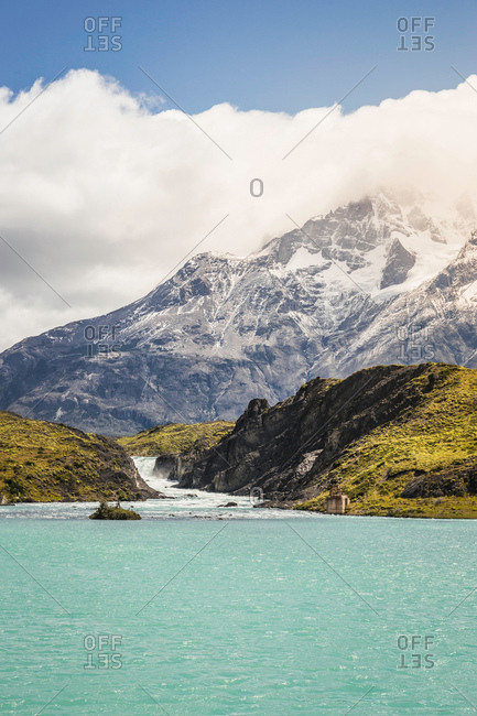 View over Grey Lake and Glacier, Torres del Paine national park, Chile