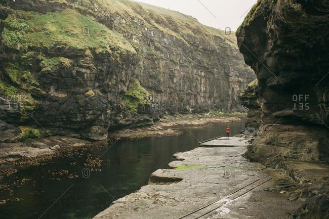 Gjogv in Faroe Islands, Denmark