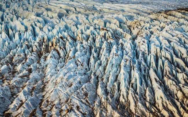 Detail of Torre glacier in Los Glaciares National Park, Patagonia, Argentina