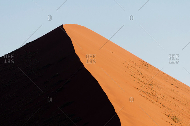 Sand dune, Sossusvlei, Namib Naukluft Park, Namib Desert, Namibia