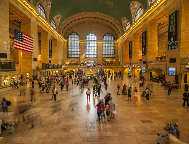New York, USA. - September 21, 2013: Grand Central railway station
