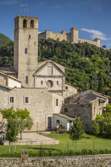 San Ponziano Monastery and Rocca Albornonziana, Italy, Umbria, Spoleto