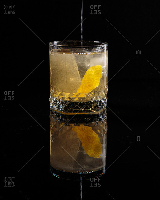 A cocktail in reflection