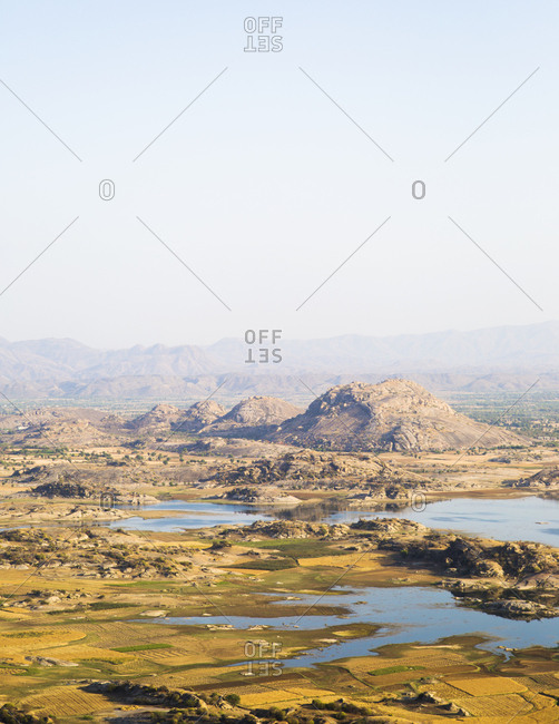 The landscape in Jawai, Rajasthan, India