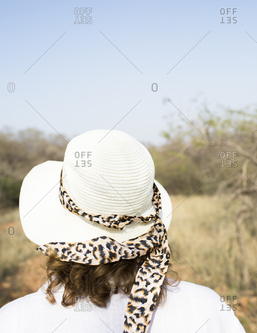 A lady on a safari