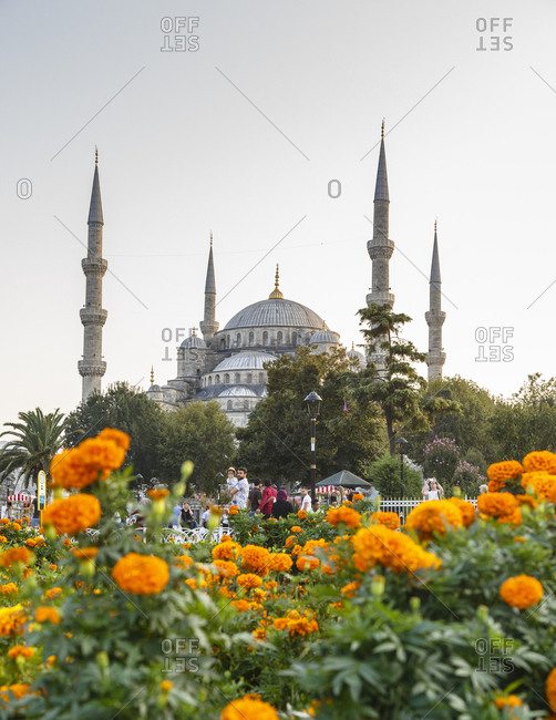 Istanbul, Turkey - September 11, 2017: Sultan Ahmet Camii known as the Blue Mosque
