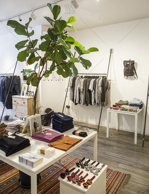 Istanbul, Turkey - September 12, 2017: Bey clothing shop in Karakoy