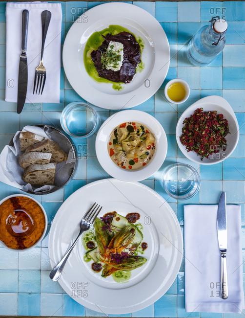 Food at Restaurant, Istanbul, Turkey