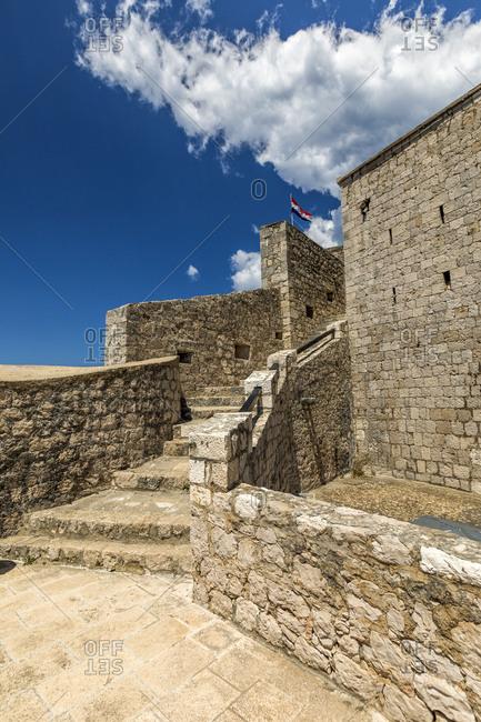 Hvar, Croatia fortress detail