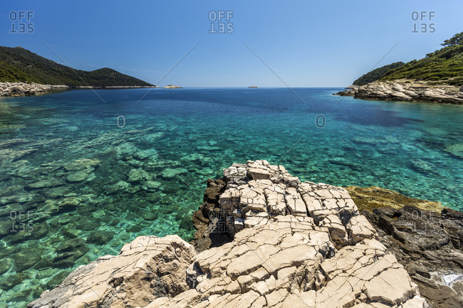 Pristine waters at Mljet National Park, Croatia