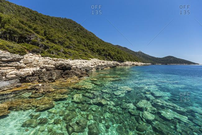 Pristine waters at Mljet National Park, Croatia