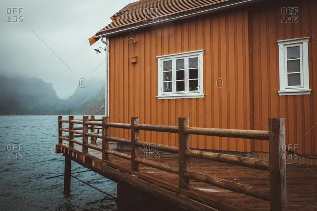 Typical norwegian cabin in Reine, Lofote, Norway