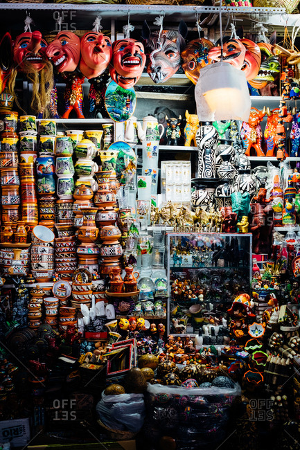 Cusco, Peru - September 3, 2017: A store filled with goods