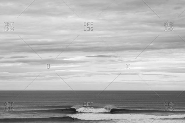 People surfing on the ocean