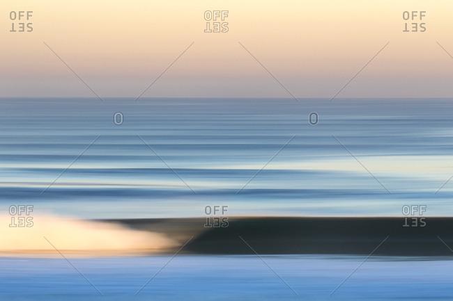 Seascape in a blur
