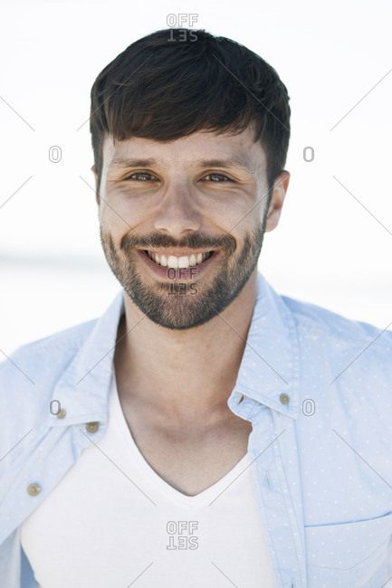 Portrait of man with beard on sailboat, Adriatic Sea
