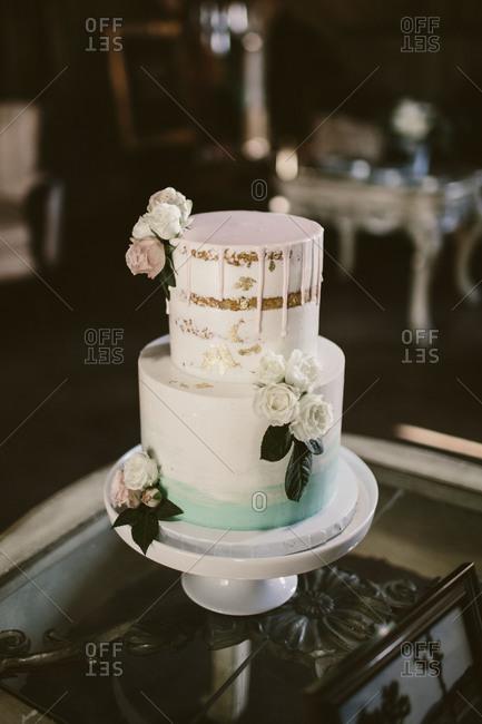 Wedding cake on display
