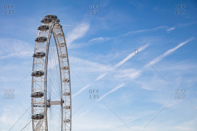 London, England, UK - July 17, 2017: The Millennium Wheel