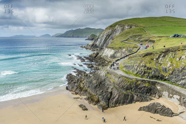County Kerry, Munster region, Republic of Ireland - May 27, 2017: Slea Head, Dingle Peninsula