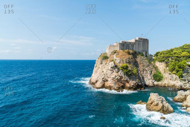 Castle landscape on coastal rock