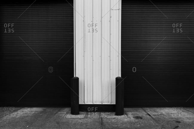 Door of a self storage unit