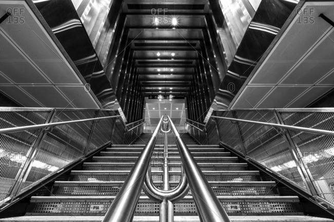 New York, NY, USA - December 28, 2015: 34th Street-Hudson Yards, a New York City Subway station on Manhattan's West Side