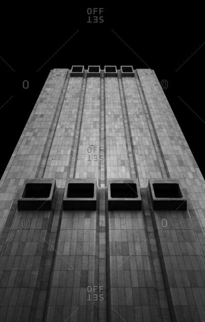 New York, NY, USA - December 28, 2015: The former AT&T Long Lines Building, 33 Thomas Street is a 550-foot tall skyscraper