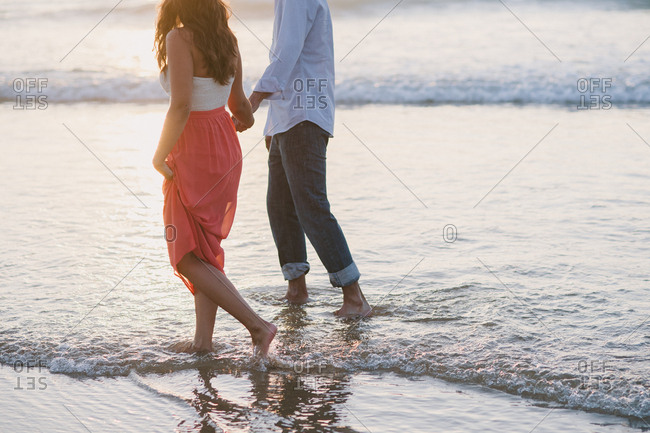 Loving couple at a beach