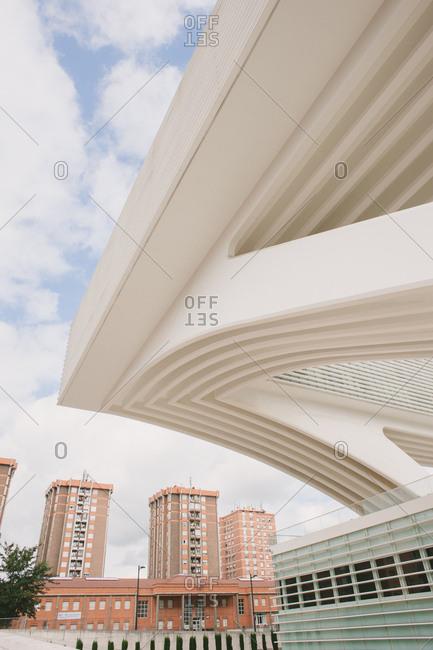 Oviedo, Spain - August 22, 2014: Exterior of exhibition center