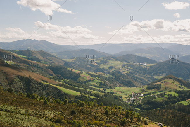 Spanish mountains in bird's eye view