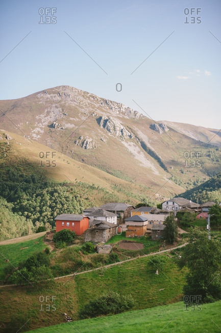 Farmland in rural Spanish mountains