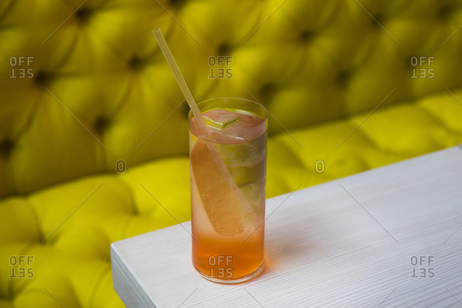 Spritz cocktail on table