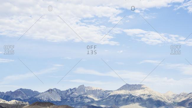 USA, California, Bishop, Mountain landscape
