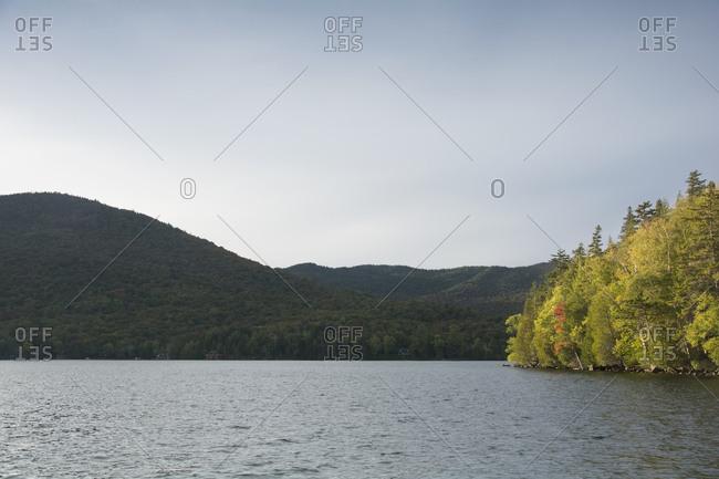 USA, New York, St. Armand, Lake Placid at autumn