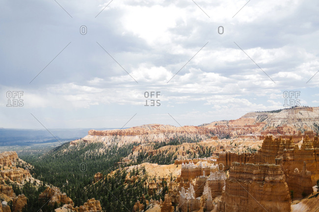 USA, Utah, Sedimentary rocks in Bryce Canyon National Park