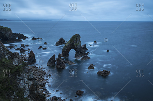 Ireland, County Donegal, Crophy Head rock formation in sea